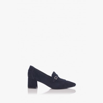 Велурени дамски обувки в синьо Оливиа