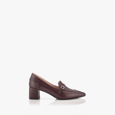 Дамски кожени обувки цвят бордо Оливиа