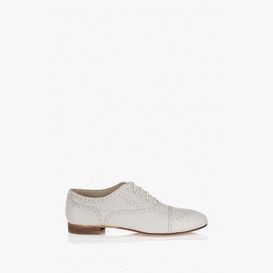 Бяла дамска обувка Джулиана