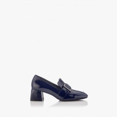 Дамски елегантни обувки в син лак Елла