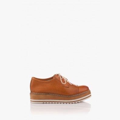 Кожени дамски обувки с перфорация Хариет