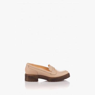 Класически дамски кожени обувки Аби