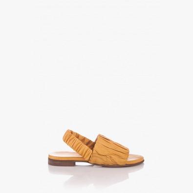 Жълти дамски кожени сандали Тейлър
