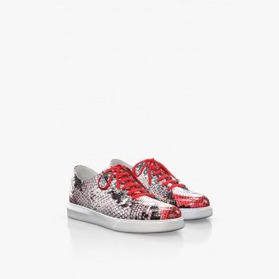 Спортни дамски обувки в червено