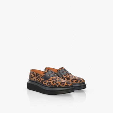 Дамски обувки в леопардов принт