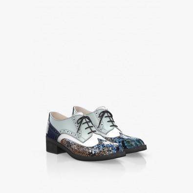 Цветни дамски кожени обувки
