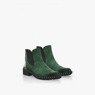 Зелени велурени боти