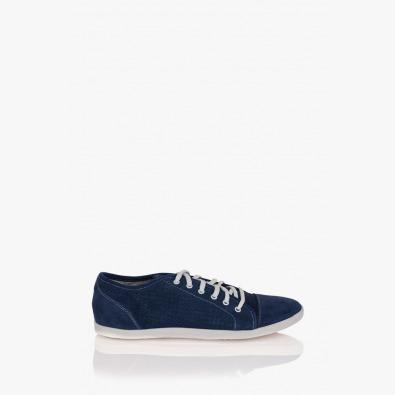 Сини велурени  мъжки обувки Алеандро