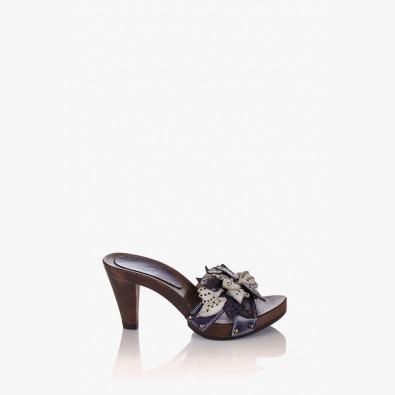 Лилави дамски сандали Каръл