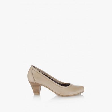 Кожени дамски обувки Бриела в бежов цвят