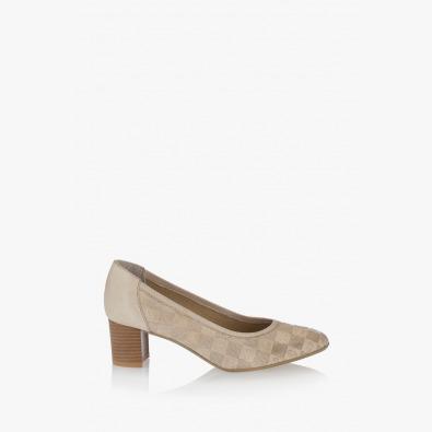 Дамски бежови обувки Ками