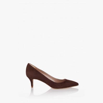 Дамски обувки в кафяв велур Пати