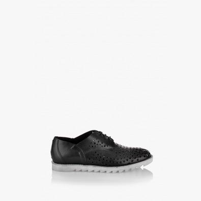 Дамски летни обувки Британи в черно