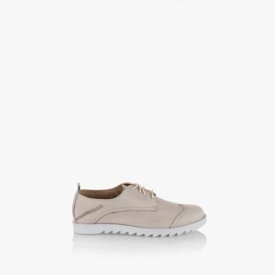 Обувки Лесли кожа бежов