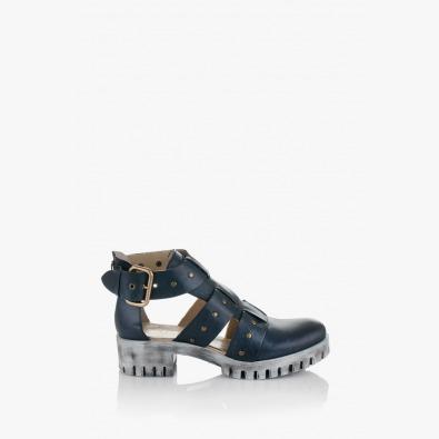 Летни дамски сандали Сесили в синьо
