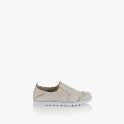 Дамски обувки Фиори бежова кожа