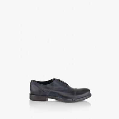Сини мъжки кожени обувки Бенет