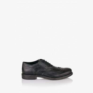 Черни мъжки обувки с перфо мотиви Жак