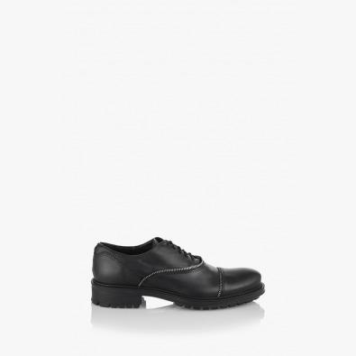 Черни кожени обувки Самуел