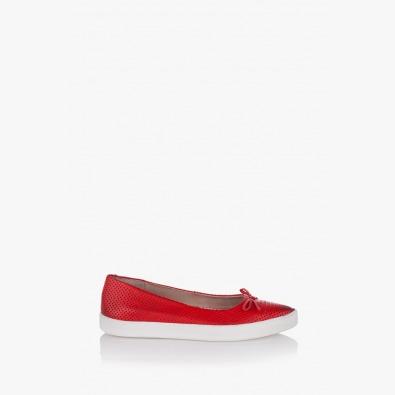 Червени дамски обувки с перфорация Тоскана