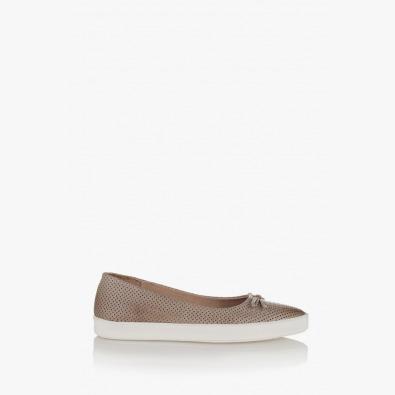 Дамски обувки с перфорация в Тоскана в сиво