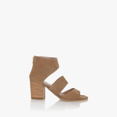Бежови дамски сандали Белинда