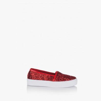 Червени дамски обувки Каприс