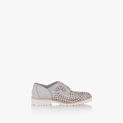 Дамски кожени обувки в цвят айс Абел