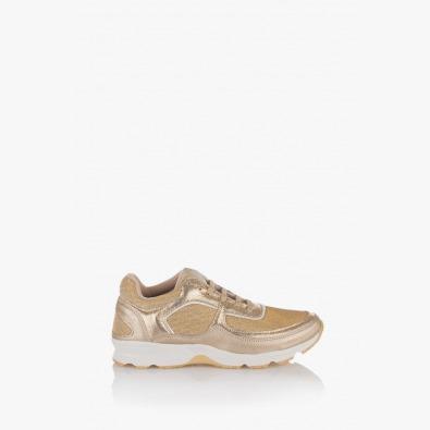 Златисти дамски спортни обувки Адона