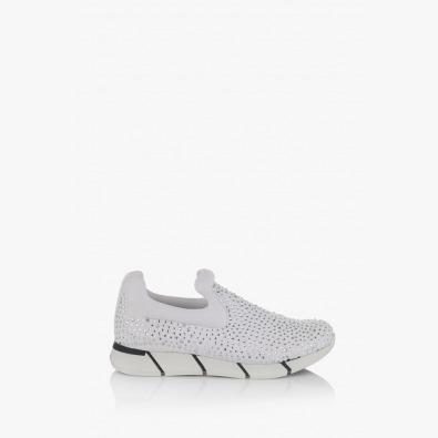 Бели дамски спортни обувки Бел