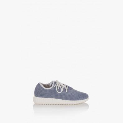 Велурени дамски спортни обувки Норма в сиво