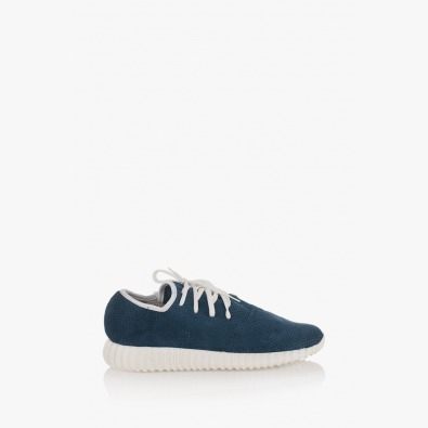 Сини велурени мъжки спортни обувки Нейт