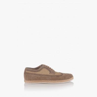 Мъжки летни обувки от велур и лен Джеймс