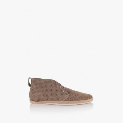 Мъжки велурени обувки Джайм с перфорация