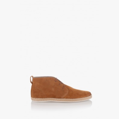 Карамелени мъжки велурени обувки Джаймс
