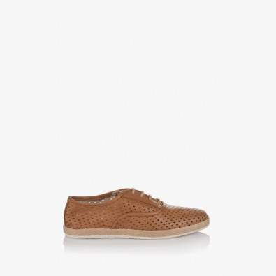 Перфорирани мъжки обувки Рос цвят карамел