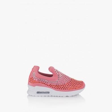 Розови дамски спортни обувки Белла
