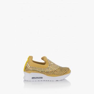 Спортни дамски обувки в жълто Белла