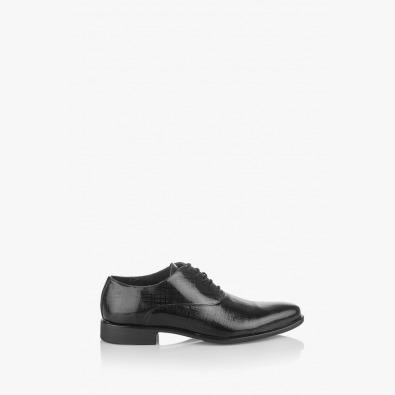 Мъжки елегантни обувки Кларк лак черен