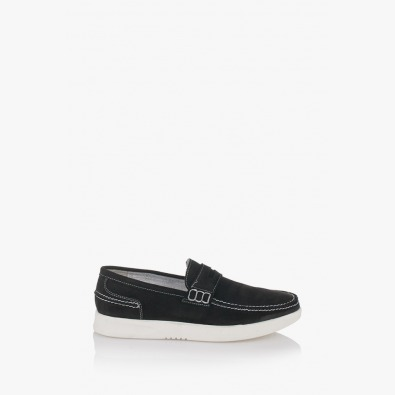 Мъжки черни велурени обувки Скот