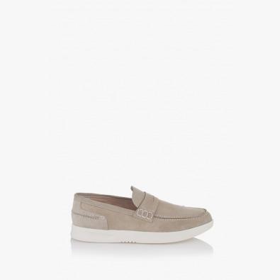 Бежови велурени мъжки обувки Скот