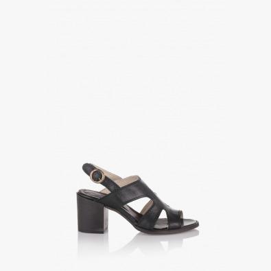 Черни дамски сандали Габро