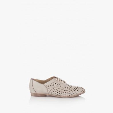 Перфорирани дамски обувки кожа айс Канди