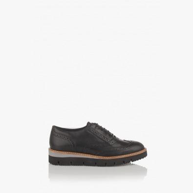 Дамски обувки естествена кожа в черно Бамби