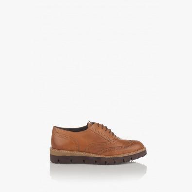 Дамски обувки цвят карамел Бамби