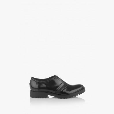 Дамска обувка Грейс с ластик в черно