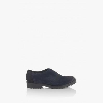Сини велурени дамски обувки  Грейс