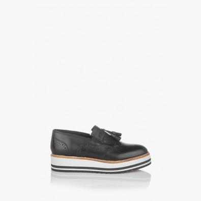 Дамски ежедневни обувки на платформа Бианко