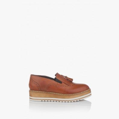 Дамски ежедневни обувки в карамел Бианко