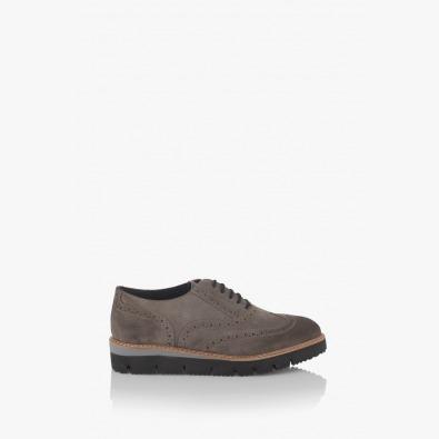 Велурени дамски обувки с връзки Бамби